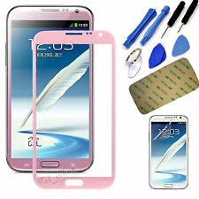 Pink Replacement Screen Glass Lens For Samsung Galaxy Note II 2 N7100 N7105+Tool