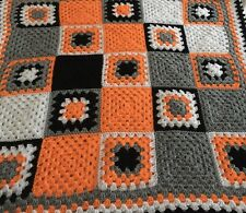 New Handmade Vintage Style Crocheted Granny Blanket 41 Inches Squared