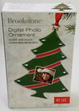 "Brookstone Digital Photo Hanging Ornament Christmas Tree 1.5"" Screen"