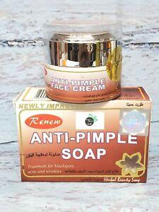 Renew Anti Pimples Soap + Anti Pimples Face Cream Set