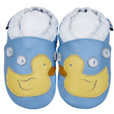 Soft Sole Leather Baby Shoes Infant Children Kids Boy Girl Gift Duck Blue 12-18M