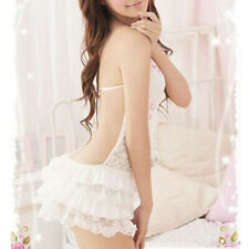 Women's Sexy Lingerie Nightdress Spaghetti Strap Lace Sleepwear Mini Loungewear