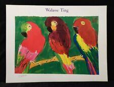 3 parots por Walasse Ting impresión