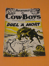 1950's PULP AVENTURES DE COW-BOYS #404 EDITIONS POLICE JOURNAL FREE SHIPPING