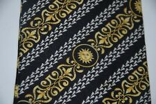 Versace Krawatte Silk Tie Navy Yellow White