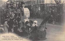 CPA 06 CARNAVAL DE CANNES 1909 L´HOMME DANS L´AIR MASQUE ISOLE