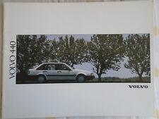 Volvo 440 range brochure 1991 English text