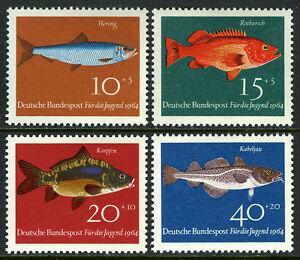 Germany B396-B399, MNH. Fish: Herring, Rosefish, Carp, Cod, 1964