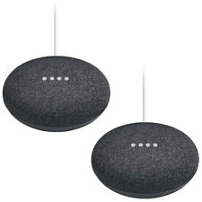 Google Home Mini Smart Speaker with Google Assistant 2-Pack Bundle - Charcoal
