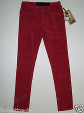 "BNWT:ONETEASPOON HOT PINK/RED CORDUROY HIGH RISE SKINNY LEG JEANS 12/30 ""DIXIES"""