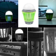 Lampe Anti Moustique Électrique Lampe Camping Solaire 2 en 1 Répulsif Tueur Mous
