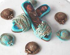 Edible Moana Shoes Set Handmade Sugarpaste Cake Topper