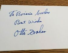 Otto Graham original hand signed autographed index card (Football)