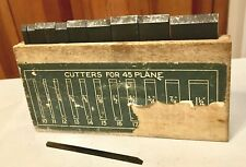 Vintage 1940's Stanley Plane No.45 Cutter Blades With Box All Original+Beauties!