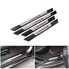 4PCS Carbon Fiber Car Door Scuff Sill Cover Panel Step Protector For Volkswagen