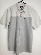 Quicksilver NWT Men's Short Sleeve Stripe Shirt Size XL