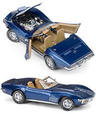 Franklin Mint B11F056 1972 Chevrolet Corvette LT-1 Targa Blue 1:24 NEW!