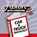 Faxon Auto Literature