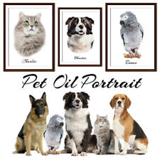 Personalised Oil portreit your pet - Add any name and photo-Premium Product