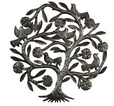 Haitian Metal Wall Art Handcrafted Sculpture Hanging Fluttering Tree Large 23""
