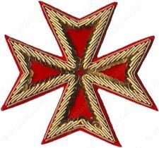 MASONIC ST. JOHN ORDER MALTA KNIGHTS MALTESE CROSS HAND EMBROIDERED (ME-002 RD)
