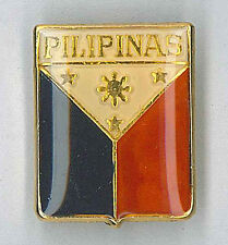 GIRL SCOUTS OF PHILIPPINE (GSP) - LEADER & GUIDES Metal FLAG Uniform Pin Patch