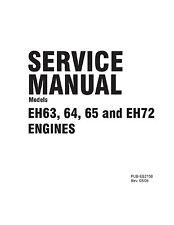 Subaru Robin Engine Service & Repair Shop Manual EH63 EH64  EH65  EH72 V-twin