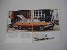 advertising Pubblicità 1977 SIMCA 1307/1308