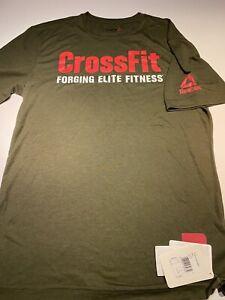 Mens Reebok CrossFit t shirt BNWT New Green Size m