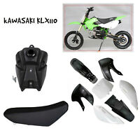 Black/white Plastics Fuel Tank Seat for KLX110 KX65 Pit Dirt Bike Trail Pitpro