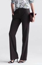 ANN TAYLOR Black Brown Gray Red WOOL Wide Leg Slim TROUSER PANTS Slacks 6 8 10