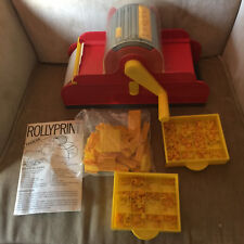 Vintage 80's Childs Toy ROLLYPRINT Rotary Printing Press Machine by Nathan
