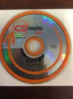 Sony CD Complete Pro Version 1.4 (1999,CD-Rom) Computer Software
