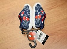 BOYS BNWT SIZE 6 SPIDERMAN TRAINERS SLIP ON CANVAS SHOES EUR 23