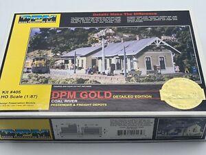 HO SCALE - DPM GOLD - DESIGN PRESERVATION MODELS - COAL RIVER DEPOTS - KIT #405