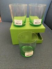 Kate Spade 3 Flynn Street Glasses Lenox Whiskey Double Green 886111 (NEW)