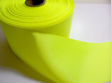 "Wide Yellow Ribbon, Offray Neon Grosgrain Ribbon 4"" wide x 3 yards, Cheer Bow"