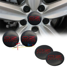 4PCS 56.5mm OZ O.Z Racing Aluminum Car Wheel Center Hub Cap Stickers Emblems