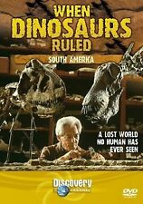 WHEN DINOSAURS RULED - SOUTH AMERICA-  A LOST UNSEEN  WORLD DVD FREE POST IN UK