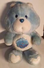 "Vintage 1983 80's Kenner Care Bears Grumpy Bear Plush Blue Cloud Frown 13"""