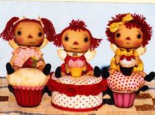 PATTERN - Angel Cake Annies - cute cloth doll PATTERN - Happy Heart Patterns