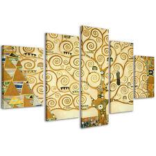 Quadri Moderni 200 x 90 cm Stampa su Tela XXL Klimt L'albero della Vita #163