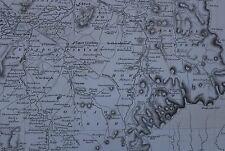 1822 LARGE DATED MAP NORTH ROXBURGHSHIRE JOHN THOMSON ATLAS of SCOTLAND ROXBURGH