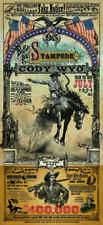 Cody Wyoming Buffalo Bill Stampede Rodeo poster by Bob Coronato vintage cowboy