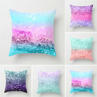 Colorful Suede Pillow Cover Sofa Waist Throw Cushion Cases Home Decors Xmas Gift