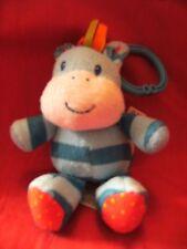"""Mothercare Bleu Bonbons vibrant vache jouet doux avec landau Crochet 6"""""""