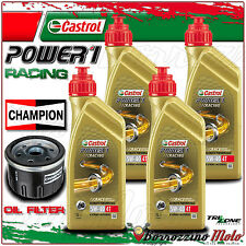 KIT TAGLIANDO OLIO CASTROL POWER 1 RACING 5w40+ FILTO CHAMPION BMW R1200GS 2009