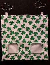 Fabric Hay feeder bag green clover - guinea pig, bunny