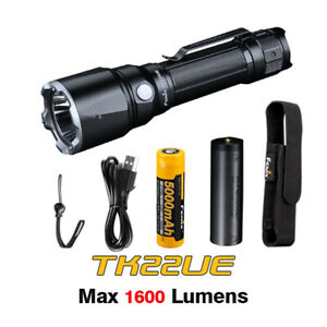 Fenix TK22 UE Luminus SST40 LED 1600lms Tactical Flashlight Torch+Battery