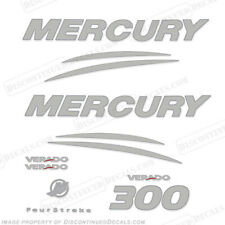 Mercury Verado 300hp Decalcomania Kit - Cromo/Argento